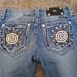 Miss Me Jeans Size 27x20 Signature Cuffed Capri